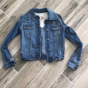 Mossimo Denim distressed jean jacket